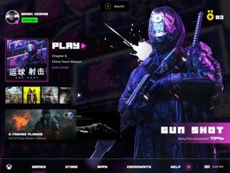 Xbox UI Concept Figma