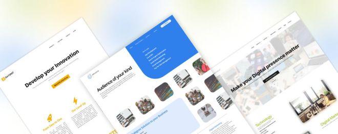 3 IT Company Website Templates Figma