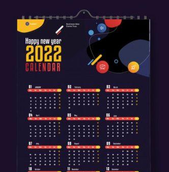 Premium Quality Calendar 2022 Template PSD