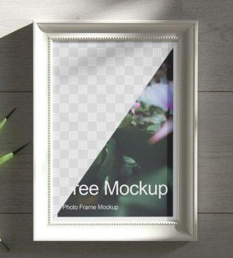 Realistic Wall Photo Frame Mockup (TIF)