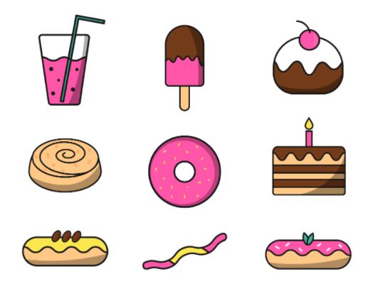 Sweet Icon Pack Vector