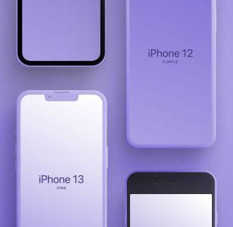 Matte iPhone Mockups Figma