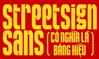 StreetSign Sans Font