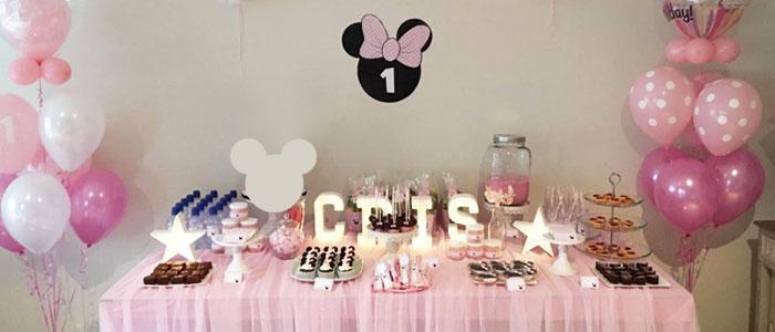 Mesa de dulce Minnie Mouse