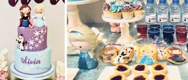 Mesa de dulces Frozen