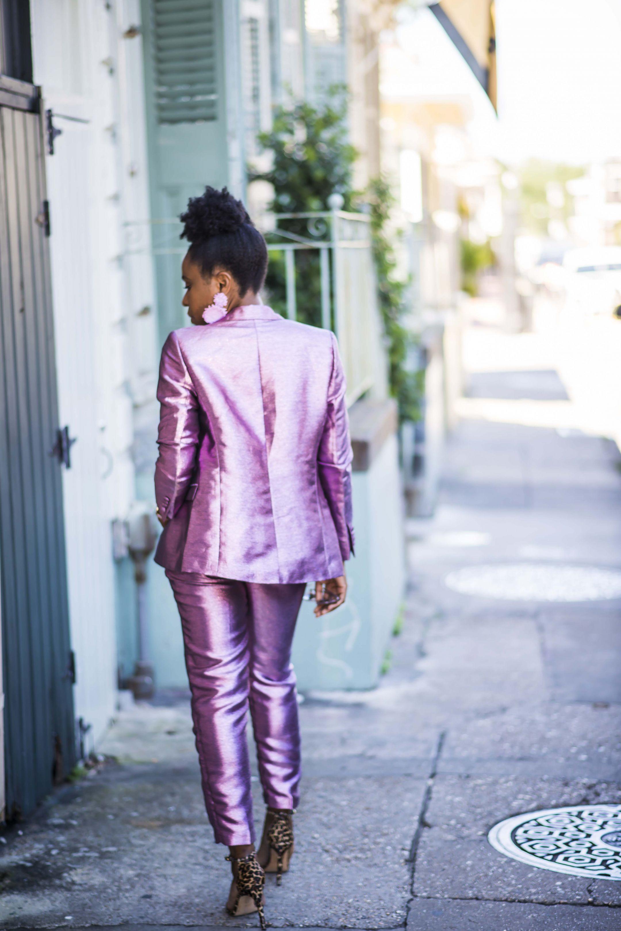 Asos metalilc suit