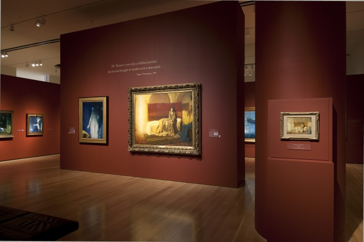 "Installation view of ""Henry Ossawa Tanner: Modern Spirit"""