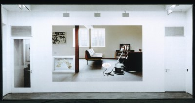 Attic Richard Hamilton 1995 Computer-printed transparency, mounted on canvas 48 inches x 8 feet (121.9 x 243.8 cm)