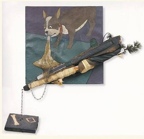 Enigma Doggie, William T. Wiley, 1966, mixed media