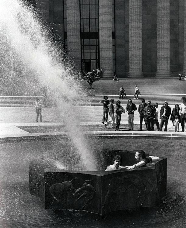 Deflected Fountain, for Marcel Duchamp, Rafael Ferrer, 1970