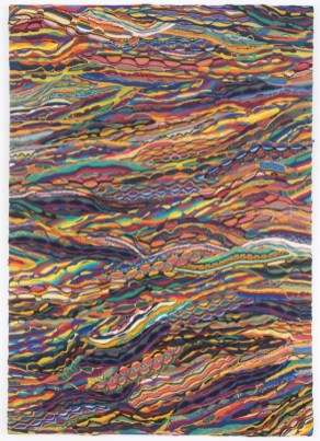Jayson Musson Fainted When the Book Mentioned Me, 2012 Mercerized cotton stretched over cotton 84 x 60 inches
