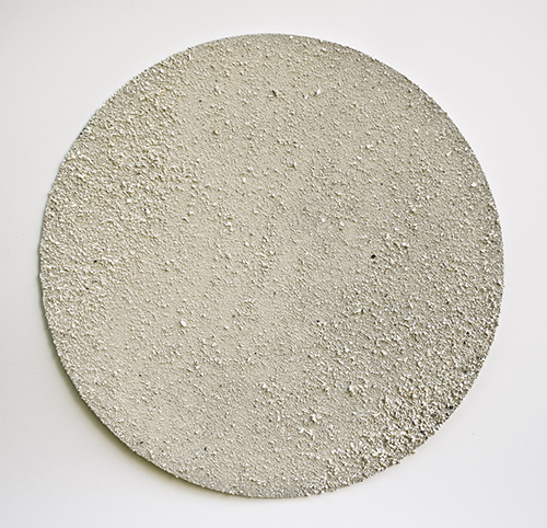 Halftone Bone & Ash on Aluminum, 12x12 2013