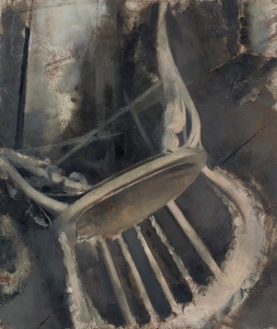 Edwin Walter Dickinson, Chair, Skowhegan I, 1956, oil on board, 15 1/2 x 12 1/2 in., Pennsylvania Academy of the Fine Arts.