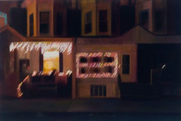 Nocturne (Vacant Fete) oil on aluminum panel 2013 48 x 72""