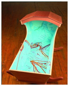 Rocking the Cradle, 2003, cradle with acrylic