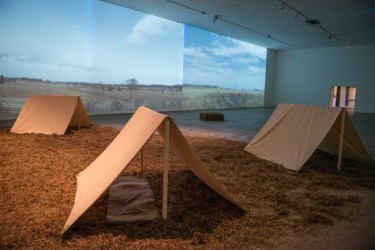 Photo credit Rebekah Flake, Image of installation in Icebox Project Space