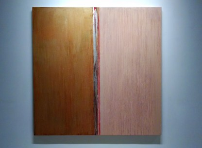Flesh and Orange, oil on linen, 84 x 84 inches, 2014
