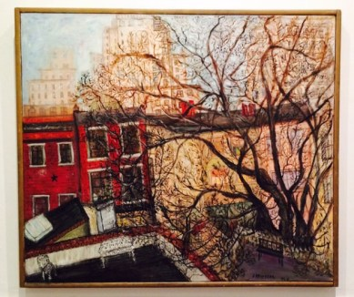 Untitled (Cityscape), 1960 Oil on canvas, 40 1/2 x 47 in. Courtesy of the Drew-Bear Family