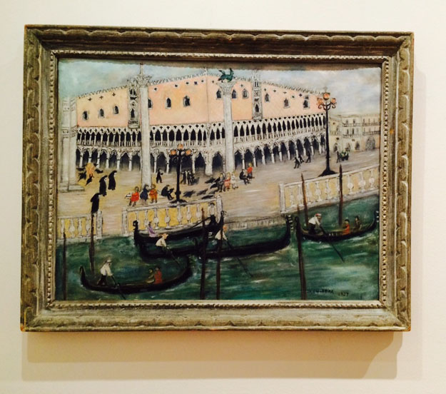 Untitled (Venice), 1957 Oil on canvas, 24 x 33 in. Collection of Patricia S. Walsh