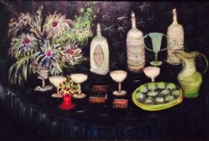 Still Life: Cocktails, c. 1960 Oil on canvas, 24 3/16 x 35 7/8 in. Philadelphia Museum of Art: Gift of Mrs. William Thomas Tonner, 1960-57-1
