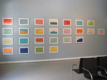 Installation view of North Gallery, East Wall: Go Ahead and Sink series, The Last Leg series and Trailing