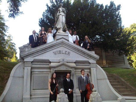The Divine Hand Ensemble, from a performance at Laurel Hill Cemetery, 2012