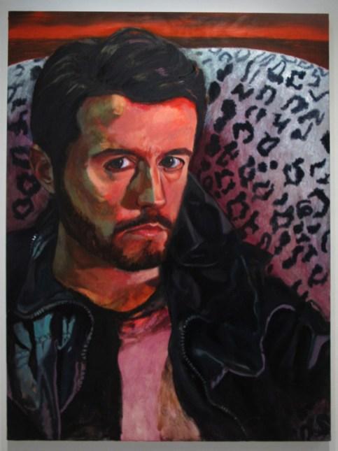 Yoni Hamburger, Avdo, oil on canvas, 30 x 48 inches