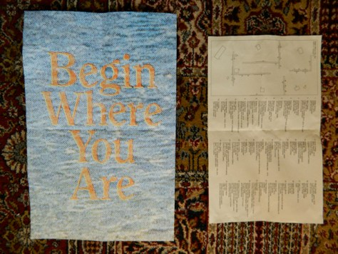 Program designed by Claire Iltis and floorplan for Begin Where You Are