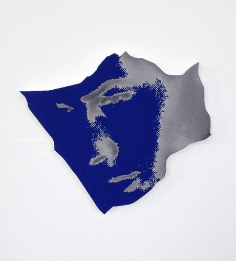 """""""Model,"""" Michael Ciervo, Oil on cut panel, 8.5""""x10""""x0.75"""""""