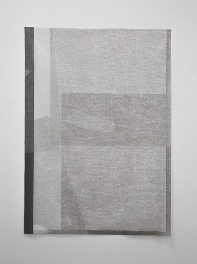 """Mirror, Reflection (1 of 3), Pigment Print on Knitted Voile, 42"""" x 30"""", 2015"""