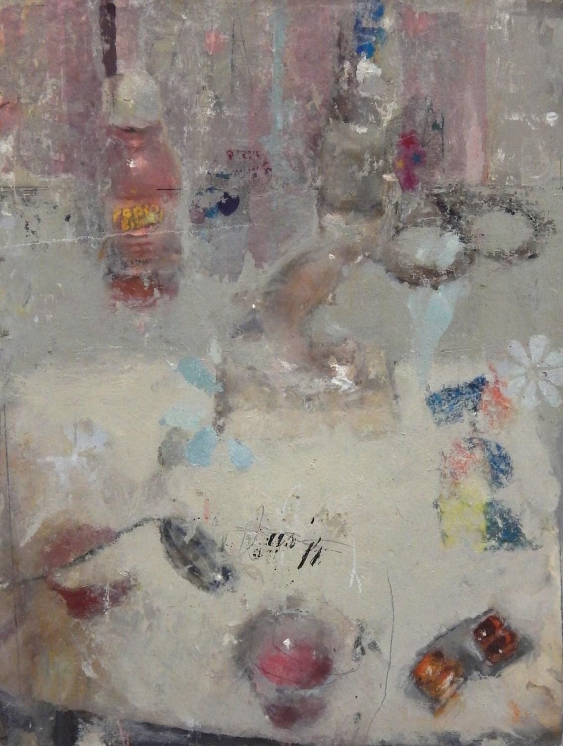 Catherine Mulligan, Spring Still Life, oil on Masonite, 2015.