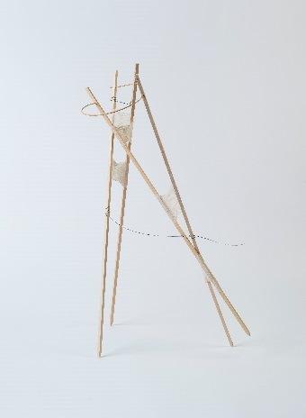 Christine Stoughton, Stick Drawing #1, mixed media, 2014.