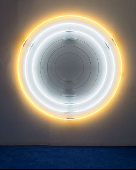 Chad States,Untitled (I AM THE SUN), 2016. Neon, Power Pack, 74x74 inches.
