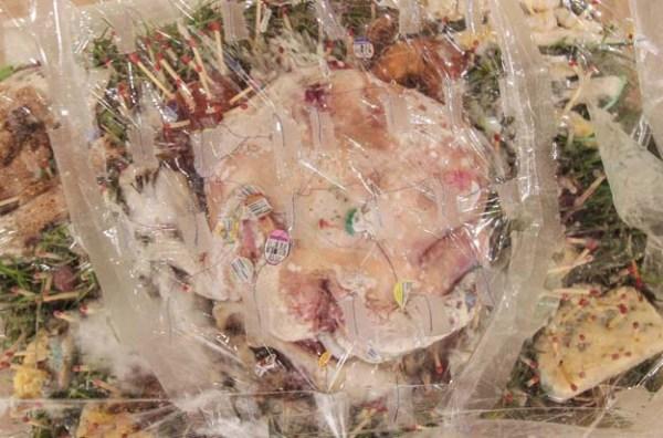 Vanitas with Orbs, May 2015, mixed-media sculpture, 18_ x 26_ x 18_