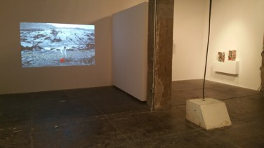 BRICK MOON installation view at FJORD. Image courtesy of Elisa Gabor.
