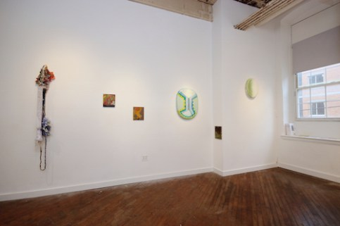 Installation view, BEDROCK at Tiger Strikes Asteroid Philadelphia. With the work of Rachel Klinghoffer, Adam Lovitz and Robert Straight. June 3 - July 17, 2016. (photo by Douglas Witmer)