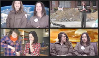 Screen Shots from four captivating Sister Spaceship videos 2015-2017