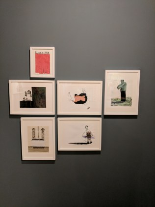 Installation view of works on paper