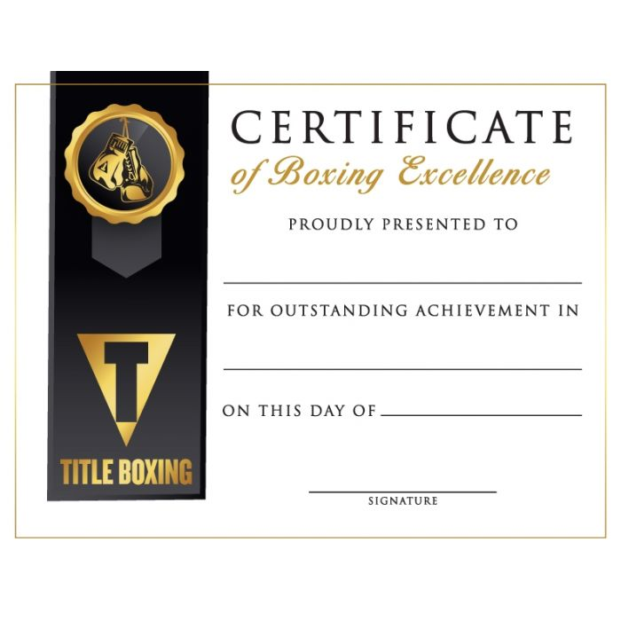 Title Boxing Award Certificates 10 Pack