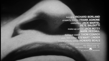 Seconds – Title Sequence by Saul Bass