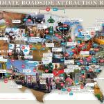 79 Weird Roadside Attractions Road Trip Infographic Titlemax
