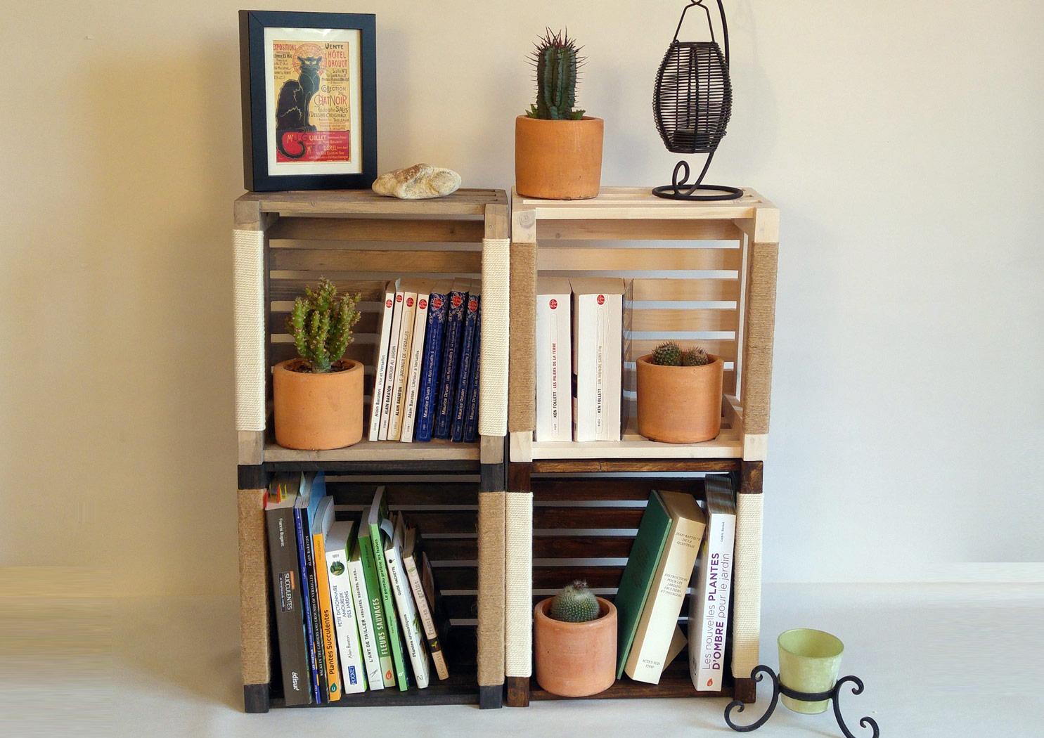 Caisse de rangement bibliothèque en bois | Made in France, écologique | Par Tito. M