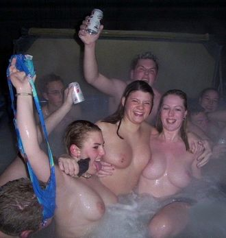 hot tub naked surprise