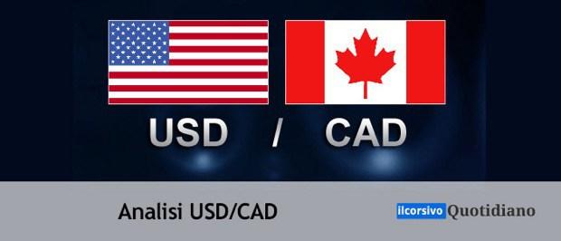 Usd/Cad ancora in rialzo dopo i dati negativi dal Canada