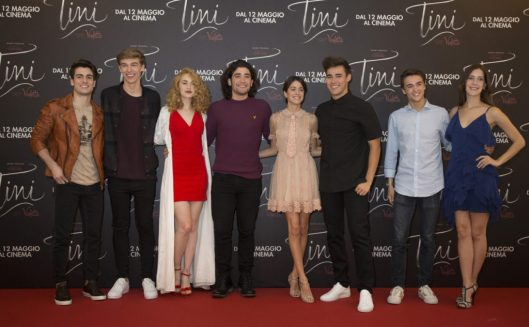 'Tini – La Nuova Vita di Violetta' Italian press conference at Grand Hotel Parco dei Principi in Rome on 29 April 2016 in the presence of the cast Martina Stoessel, Jorge Blanco, Mercedes Lambre, Adrian Salzedo, Leonardo Cecchi, Clara Alonso, Pasquale Di Nuzzo, Ridder Van Kooten.