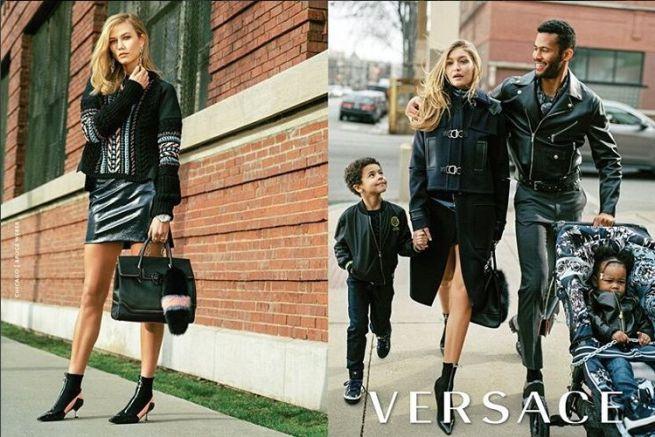 Versace,  Gigi Hadid e Karlie Kloss muse e mamme per gioco