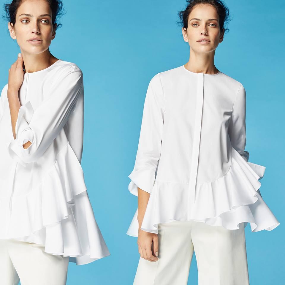 New York Fashion Week,Carolina Herrera: tra camice bianche e chiffon sfila il bon ton