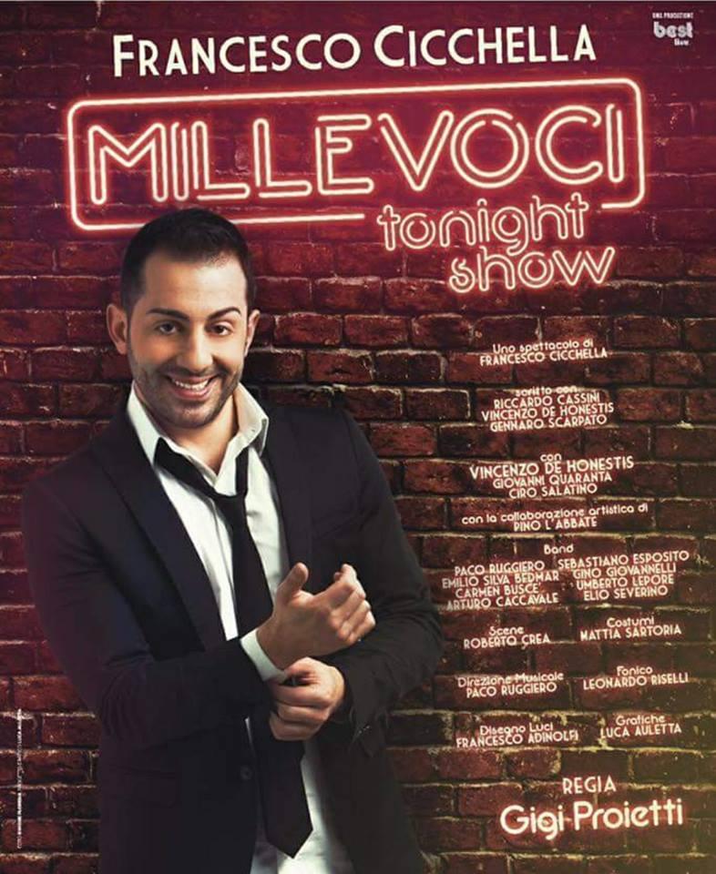Francesco Cicchella brilla nel suo One Man Show Millevoci Tonight show al teatro Diana