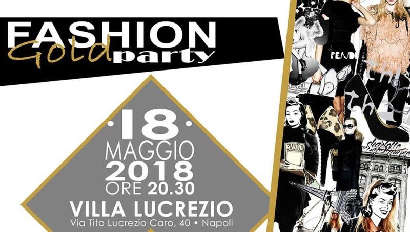 Fashion gold party locandina