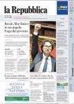 la Repubblica prima pagina